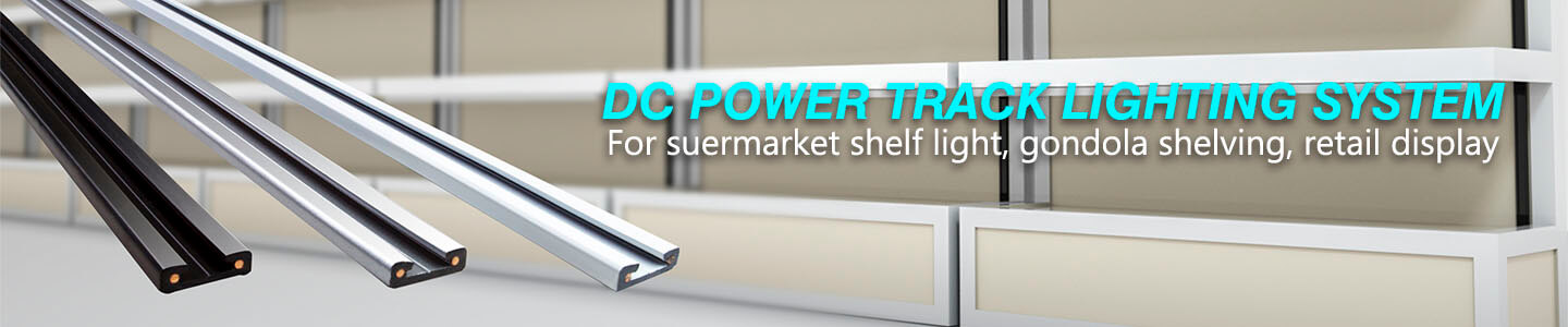 DC Power track system,led track for Retail display, shelf lighting